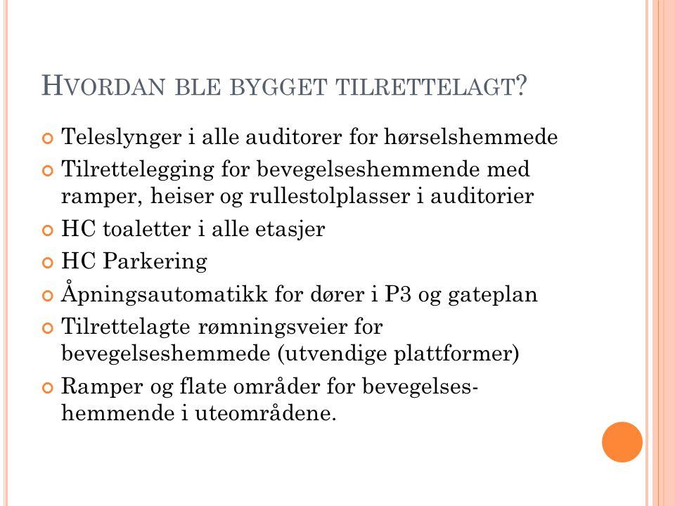 H VORDAN BLE BYGGET TILRETTELAGT .