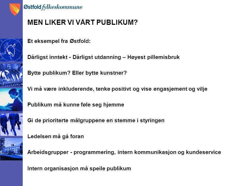 MEN LIKER VI VÅRT PUBLIKUM.