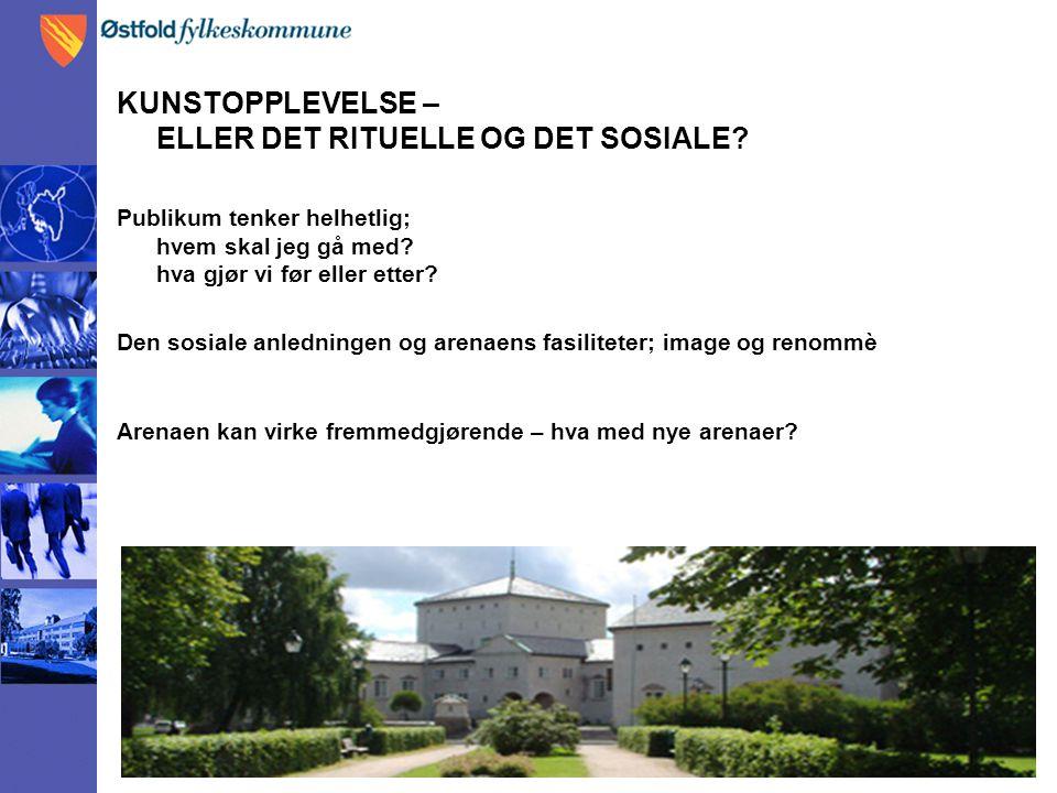 KUNSTOPPLEVELSE – ELLER DET RITUELLE OG DET SOSIALE.