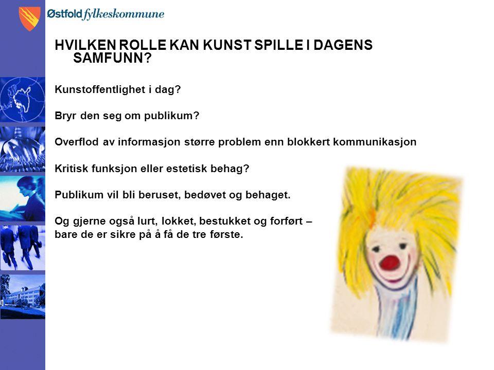 HVILKEN ROLLE KAN KUNST SPILLE I DAGENS SAMFUNN.Kunstoffentlighet i dag.