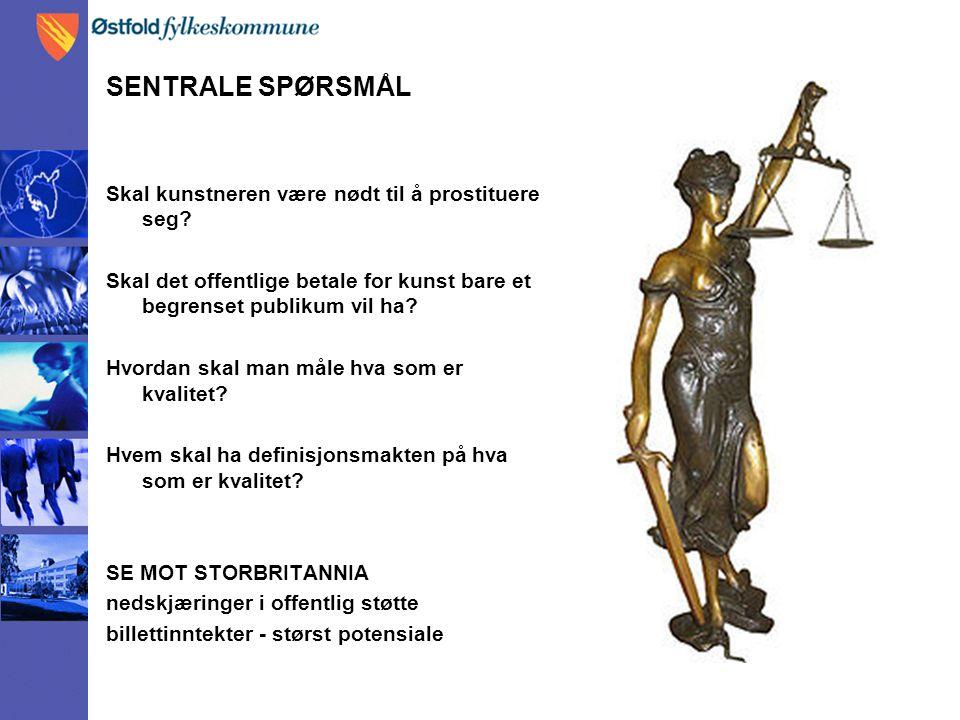 SENTRALE SPØRSMÅL Skal kunstneren være nødt til å prostituere seg.