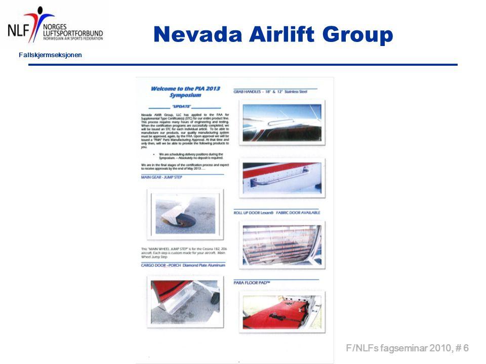 Fallskjermseksjonen Nevada Airlift Group F/NLFs fagseminar 2010, # 6