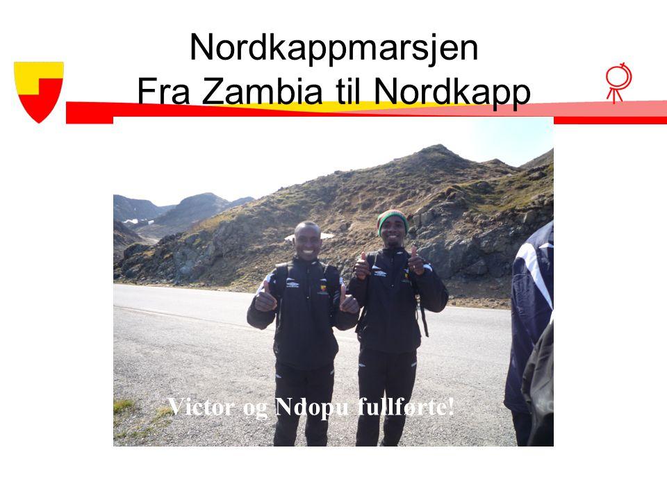 Nordkappmarsjen Fra Zambia til Nordkapp Victor og Ndopu fullførte!