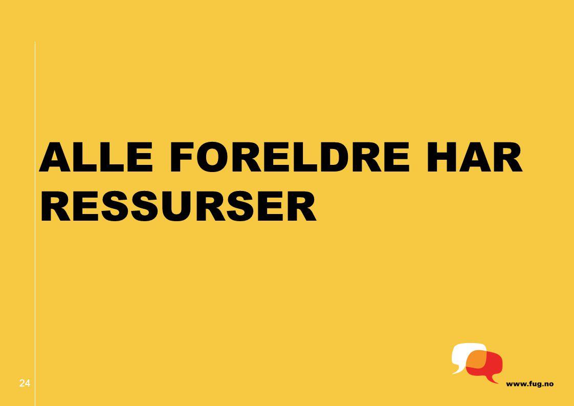 24 ALLE FORELDRE HAR RESSURSER