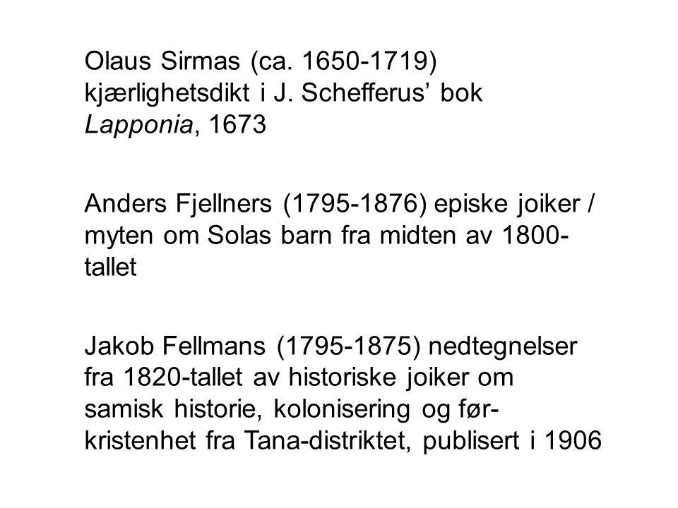 Olaus Sirmas (ca.1650-1719) kjærlighetsdikt i J.