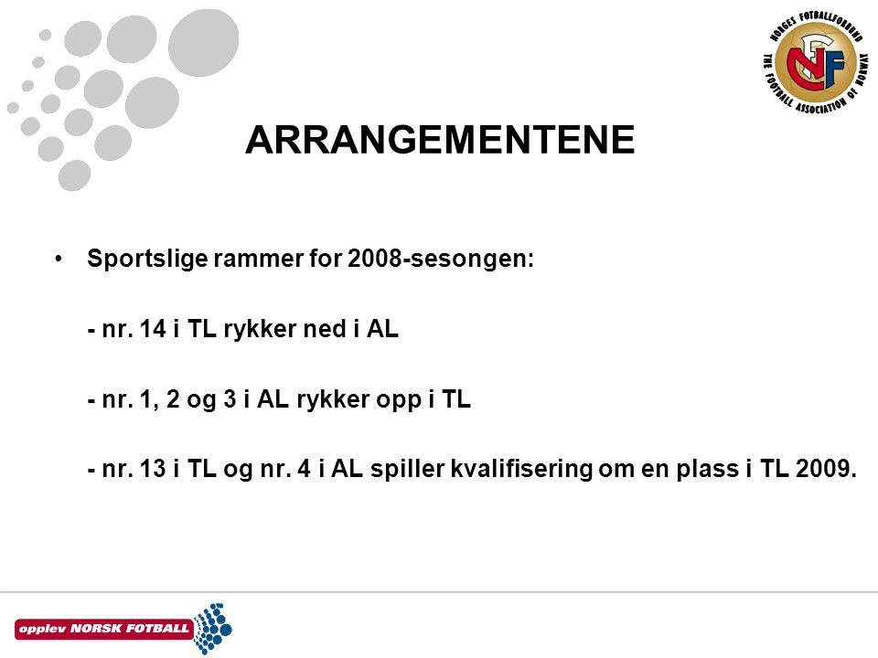 ARRANGEMENTENE •Sportslige rammer for 2008-sesongen: - nr.