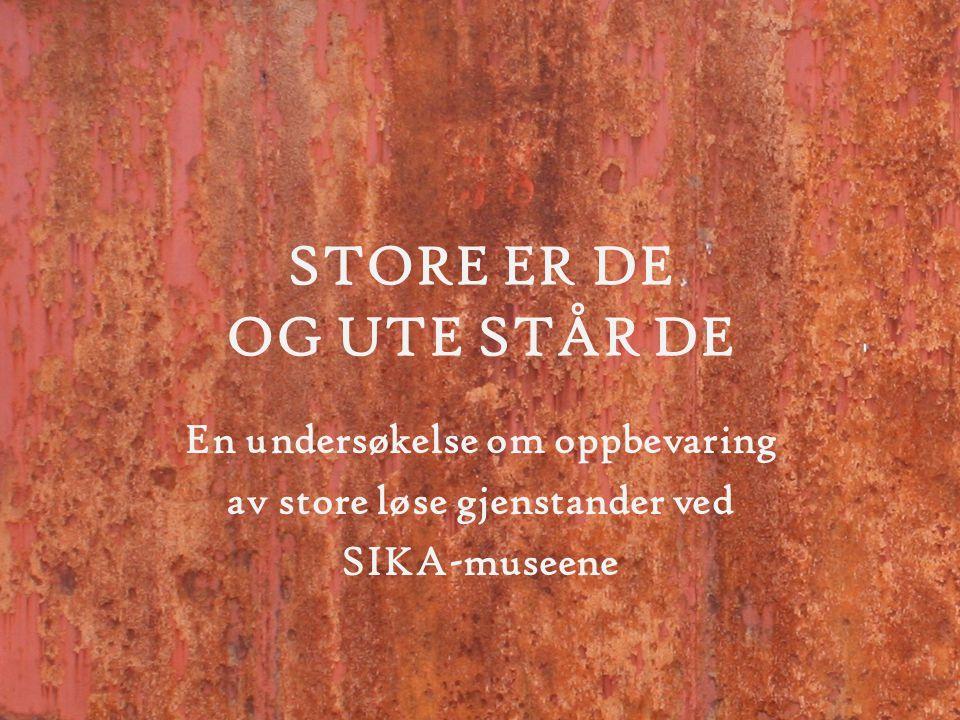 Utgangspunkt •SIKAs medlemmer ønsket fokus på problemet med manglende magasinplass for store gjenstander.