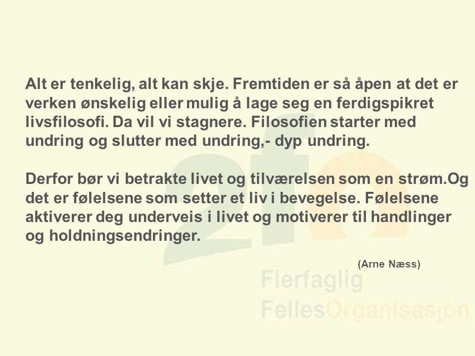 Arve Sigmundstad – Opplæringskonsulent 2fo Alt er tenkelig, alt kan skje. Fremtiden er så åpen at det er verken ønskelig eller mulig å lage seg en fer