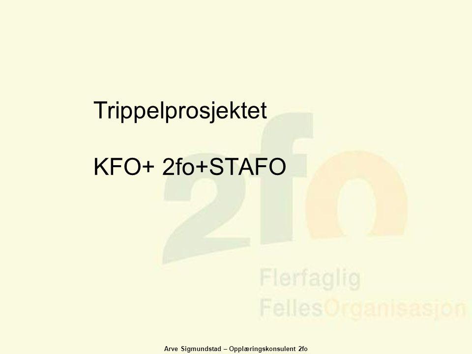 Arve Sigmundstad – Opplæringskonsulent 2fo Trippelprosjektet KFO+ 2fo+STAFO