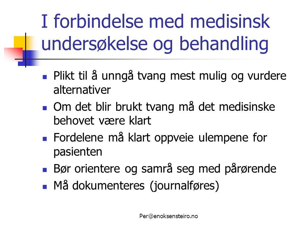 Per@enoksensteiro.no Nye regler fra 2009  Nytt kapittel 4A i pasientrettighetsloven trer i kraft 1.