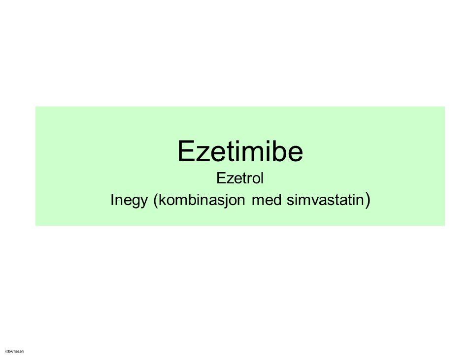 Ezetimibe Ezetrol Inegy (kombinasjon med simvastatin ) KEArnesen