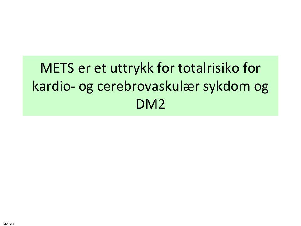 METS er et uttrykk for totalrisiko for kardio- og cerebrovaskulær sykdom og DM2 KEArnesen
