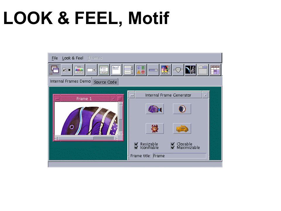 LOOK & FEEL, Motif