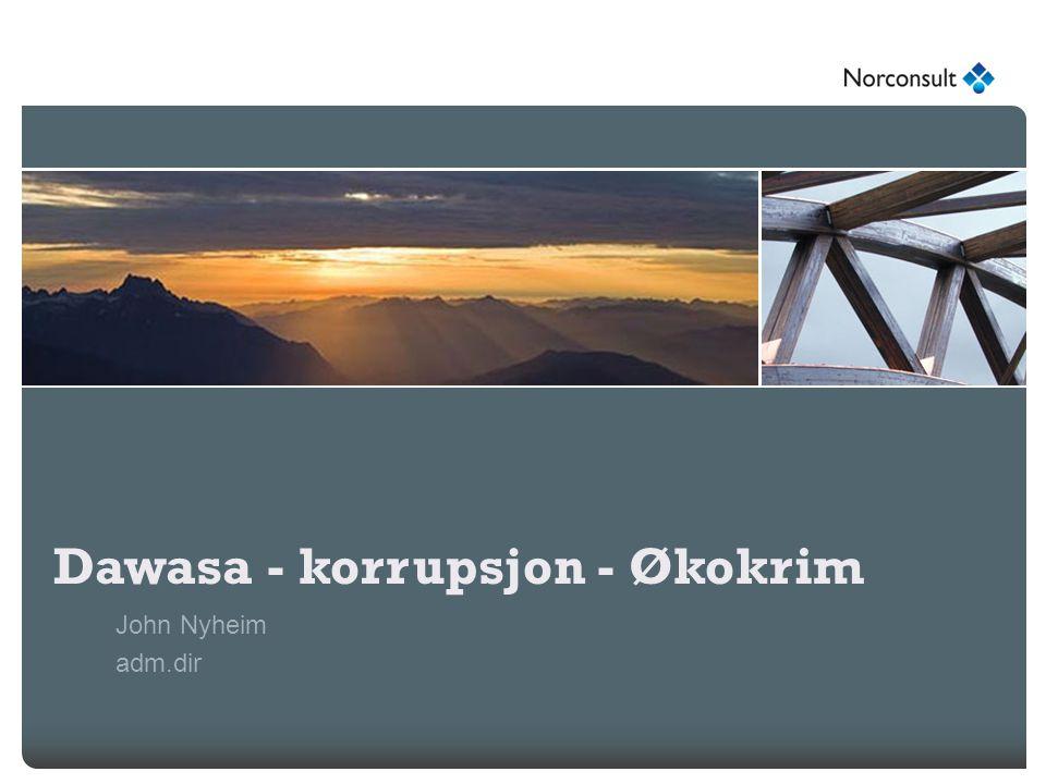 Dawasa - korrupsjon - Økokrim John Nyheim adm.dir