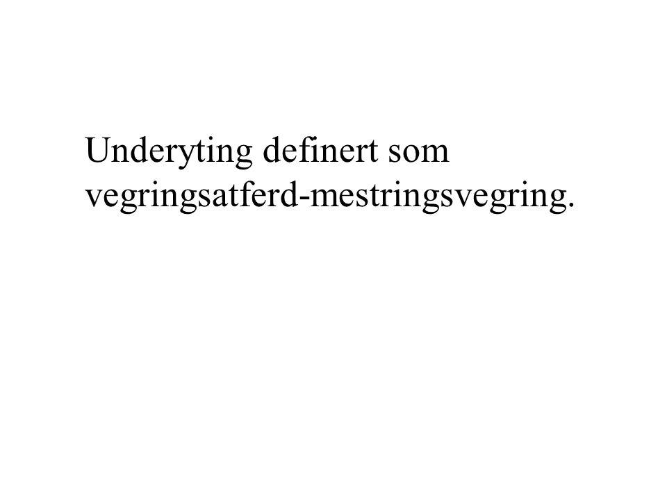 Underyting definert som vegringsatferd-mestringsvegring.