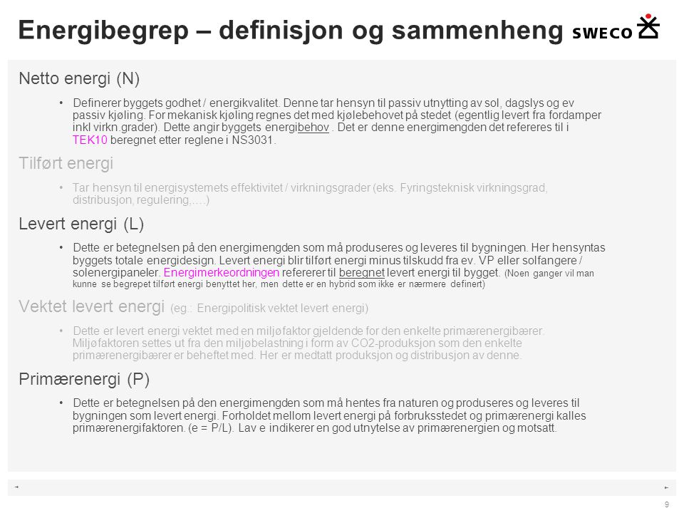 ◄ ► 10 Energiflytdiagram TEK: Voss kulturhus 11.04.2013 – miljøvennlig bygging