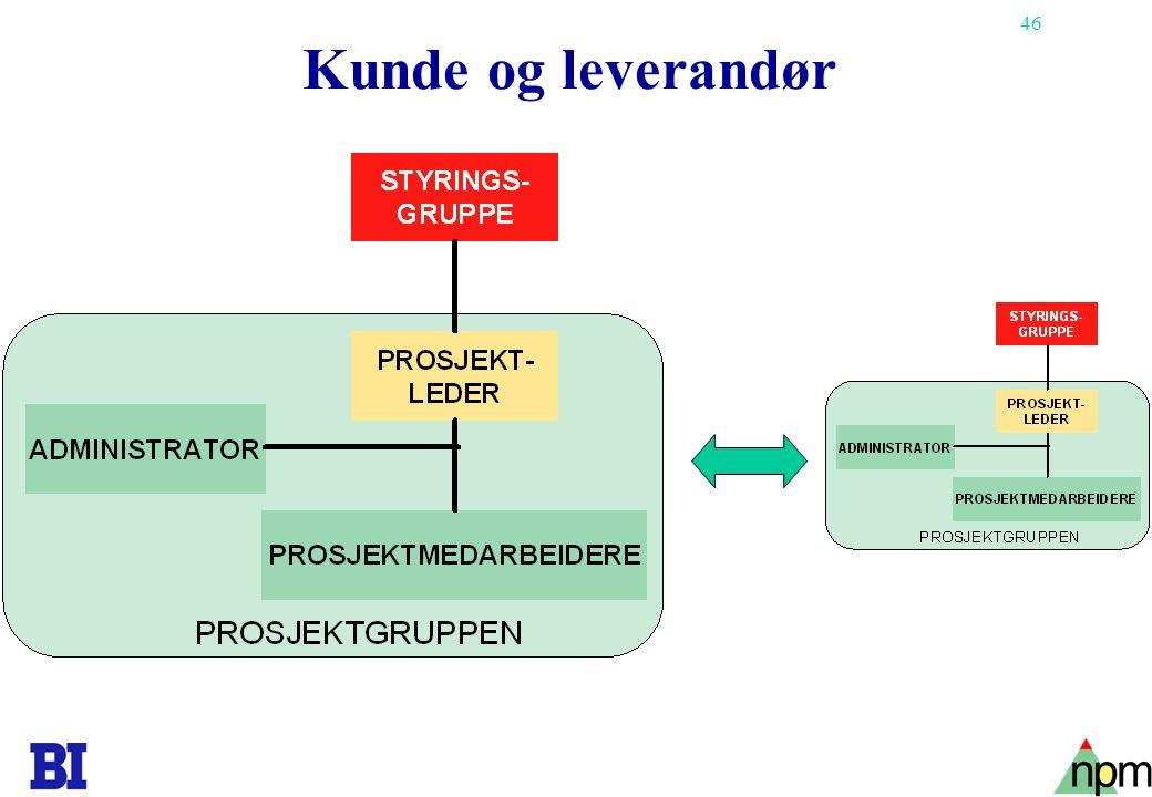 46 Copyright Tore H. Wiik Kunde og leverandør