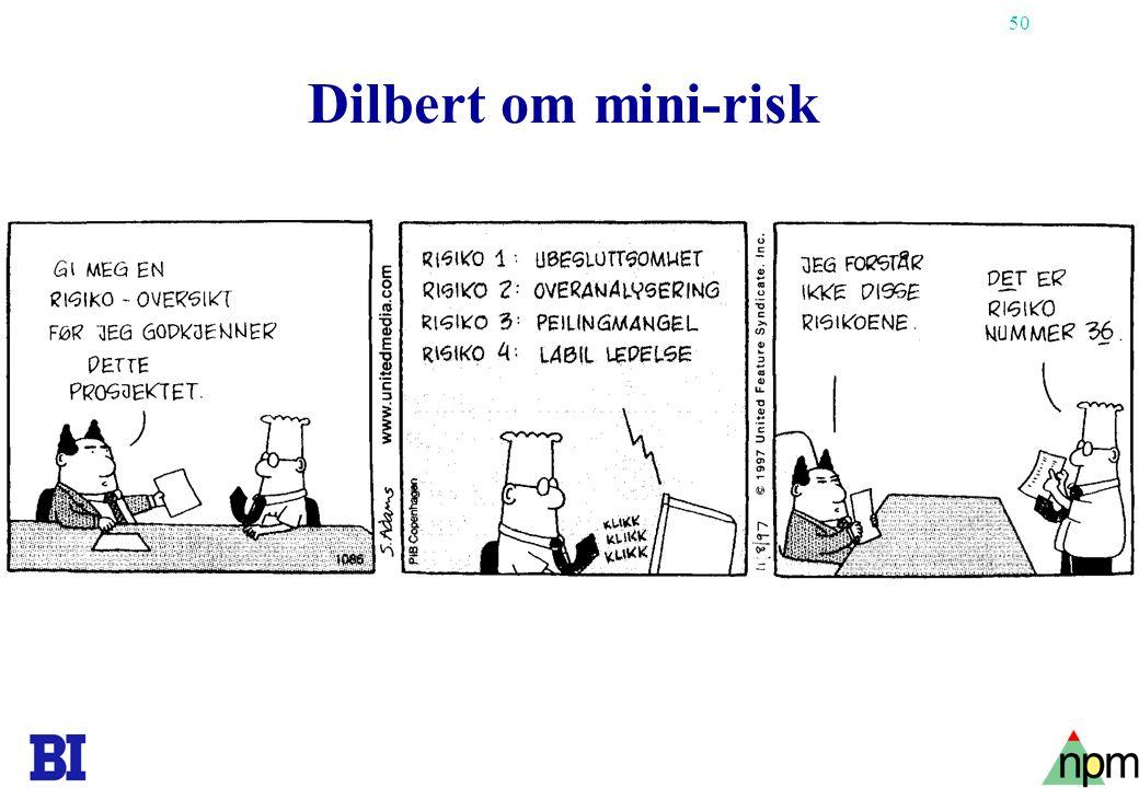 50 Copyright Tore H. Wiik Dilbert om mini-risk
