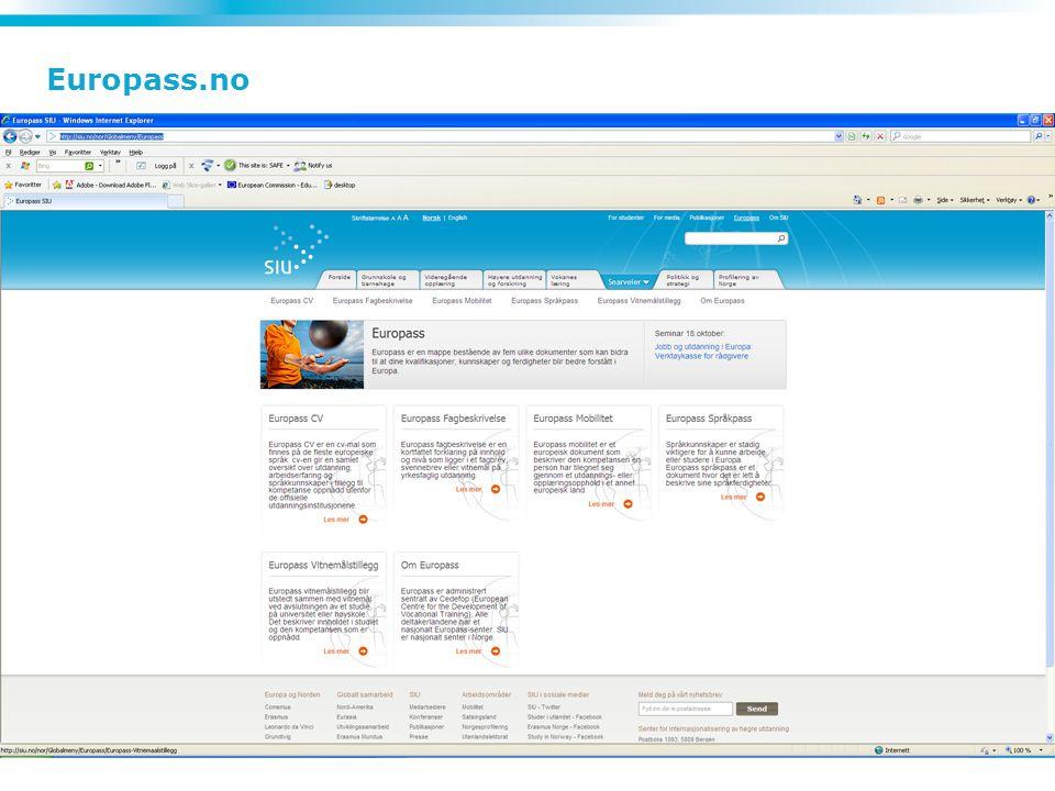 7 Mer informasjon: europass.no
