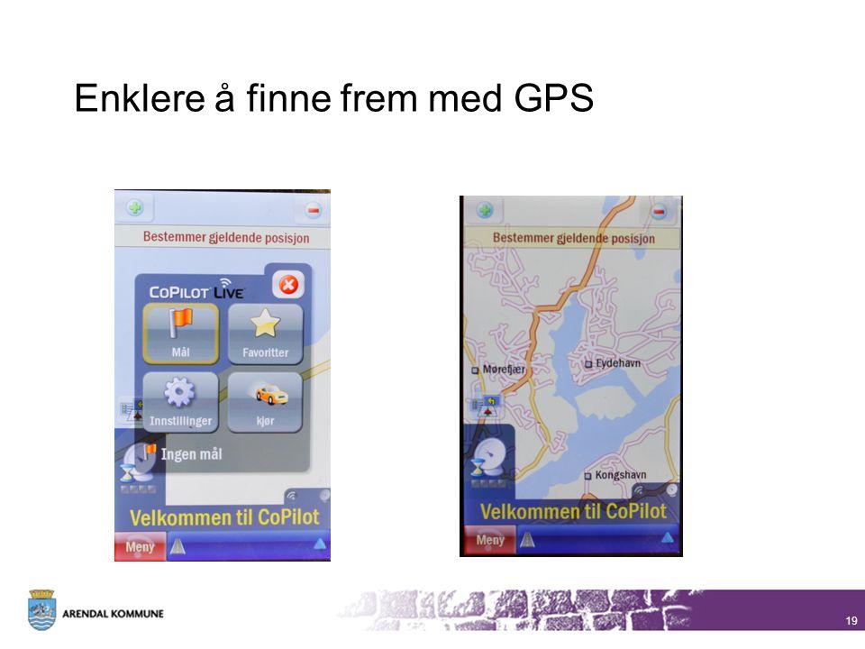 Enklere å finne frem med GPS 19