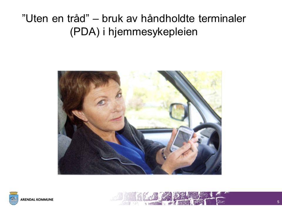 """5 """"Uten en tråd"""" – bruk av håndholdte terminaler (PDA) i hjemmesykepleien"""