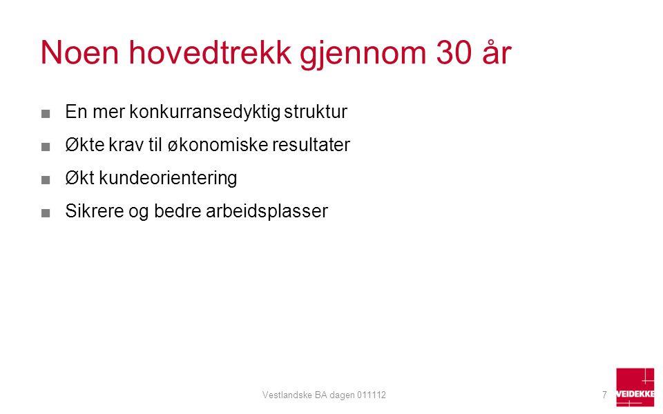 Sterk vekst i Norge 28Vestlandske BA dagen 011112