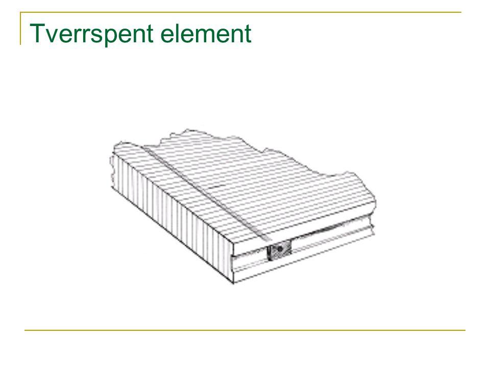 Tverrspent element
