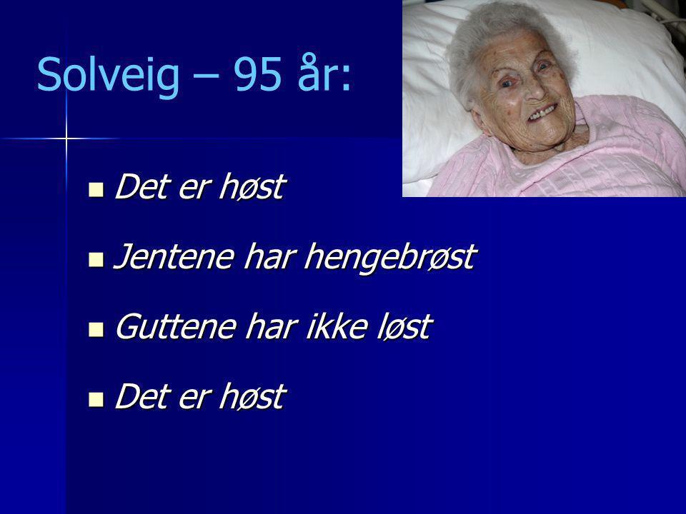 Verdighet og sjelesorg for gamle Kristine Lillestøl og Stein Husebø