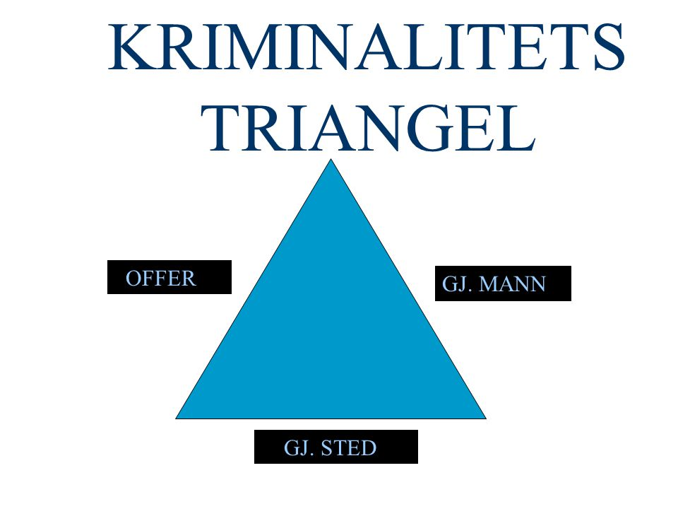 KRIMINALITETS TRIANGEL GJ. MANN GJ. STED OFFER