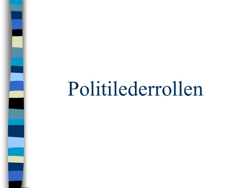 Politilederrollen