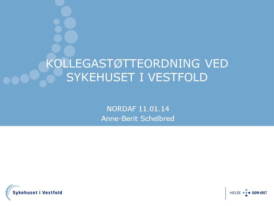 KOLLEGASTØTTEORDNING VED SYKEHUSET I VESTFOLD NORDAF 11.01.14 Anne-Berit Schelbred