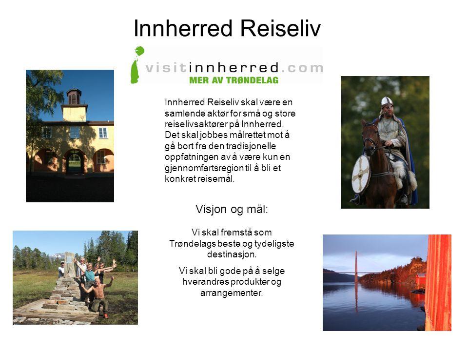 Innherred Reiseliv Innherred Reiseliv skal være en samlende aktør for små og store reiselivsaktører på Innherred. Det skal jobbes målrettet mot å gå b