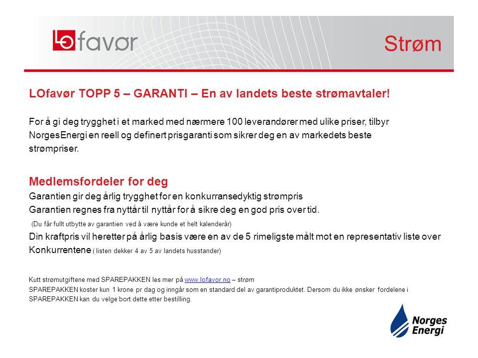 LOfavør TOPP 5 – GARANTI – En av landets beste strømavtaler! For å gi deg trygghet i et marked med nærmere 100 leverandører med ulike priser, tilbyr N