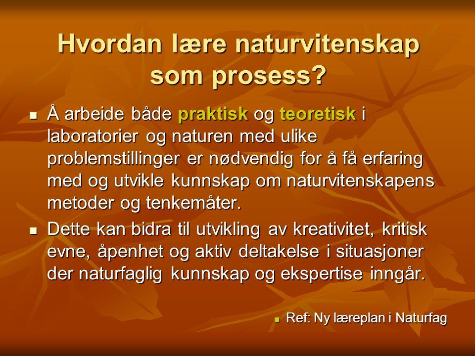 Hvordan lære naturvitenskap som prosess.