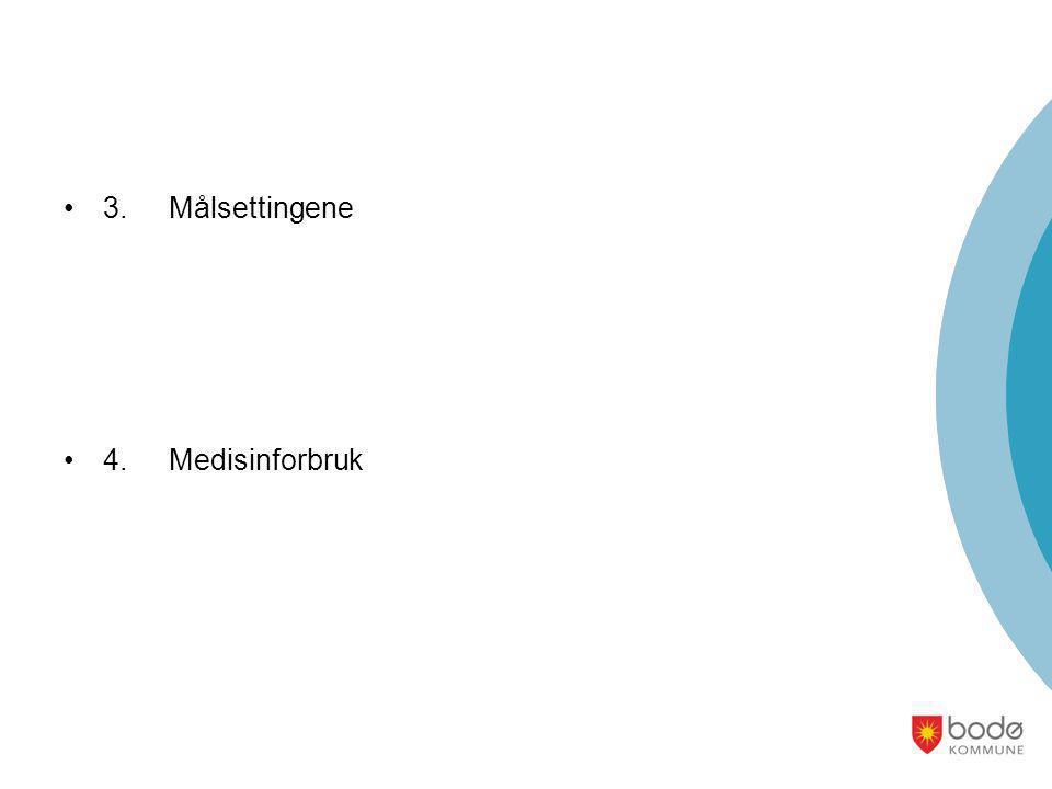 •3.Målsettingene •4.Medisinforbruk