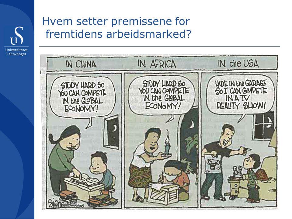 Hvem setter premissene for fremtidens arbeidsmarked?