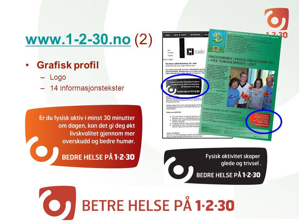 www.1-2-30.nowww.1-2-30.no (2) •Grafisk profil –Logo –14 informasjonstekster