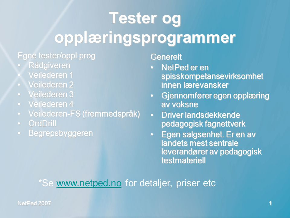 NetPed 2007 12