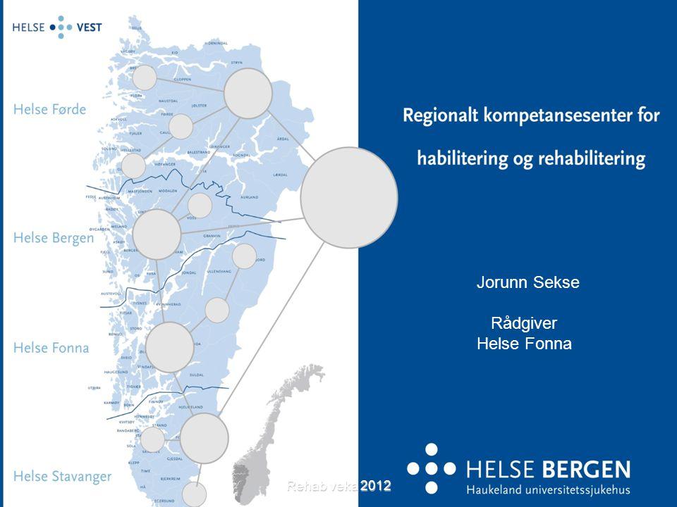 Jorunn Sekse Rådgiver Helse Fonna Rehab veka 2012