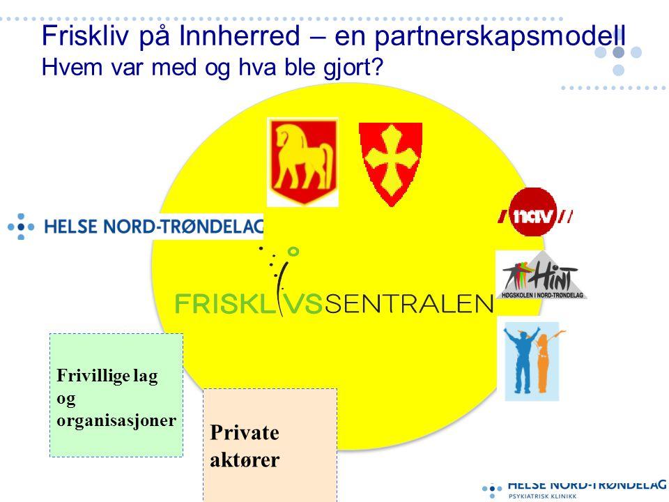 Friskliv på Innherred – en partnerskapsmodell Hvem var med og hva ble gjort.