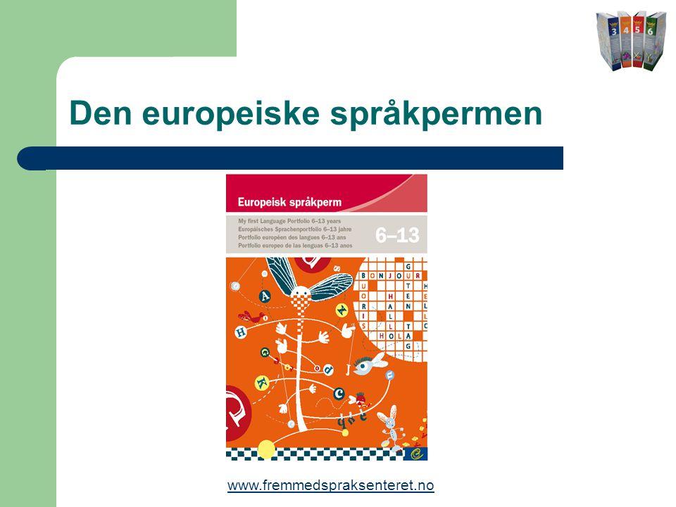 Den europeiske språkpermen www.fremmedspraksenteret.no