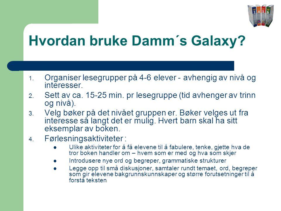 Hvordan bruke Damm´s Galaxy.1.