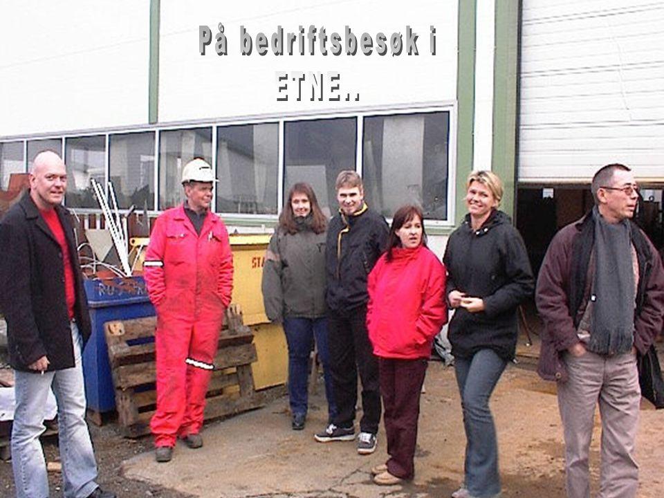Daglig leder i MCE Thor Olav Helgevold (i midten foran) kan glede seg over at de syv studentene som fikk topp karakter på prosjektoppgaven om bedriften, har utarbeidet et praktisk og anvendelig analyseverktøy.