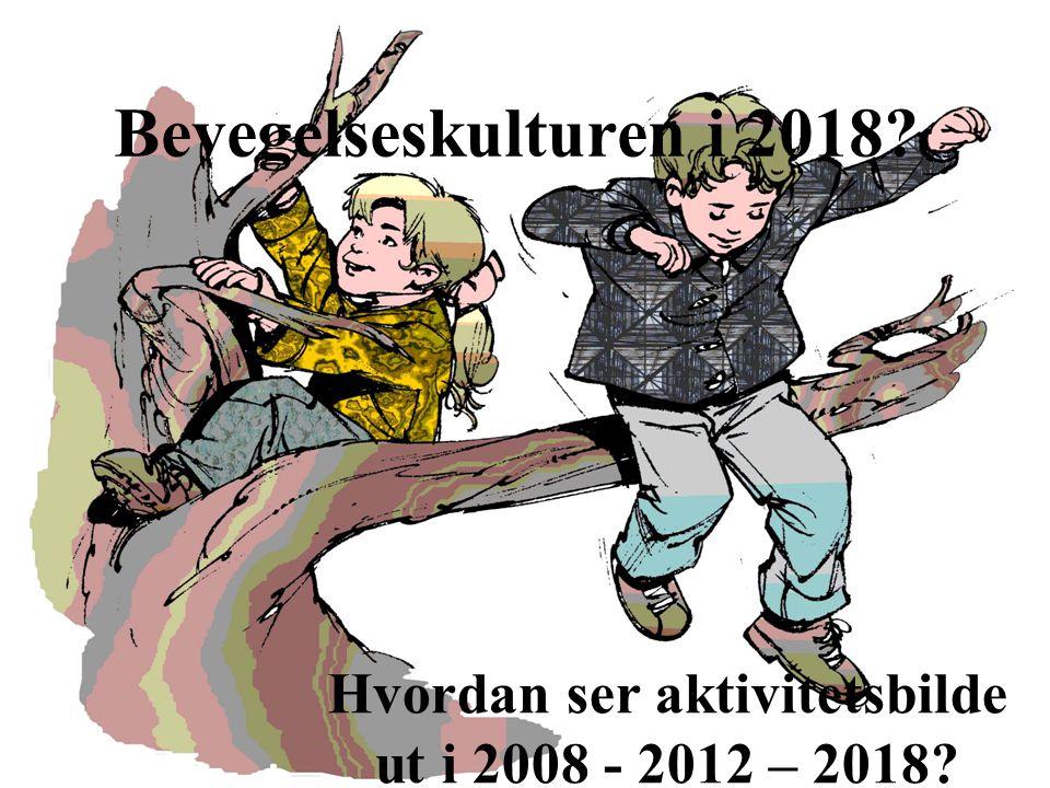 © Bergen kommune Bevegelseskulturen i 2018? Hvordan ser aktivitetsbilde ut i 2008 - 2012 – 2018?