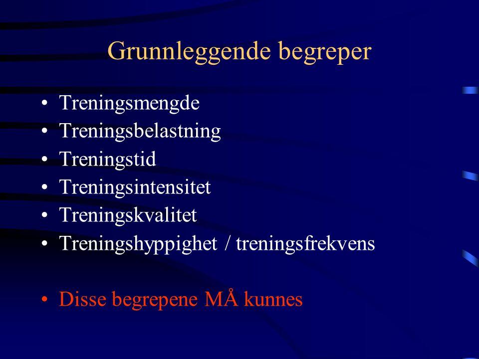 Treningskurs for rytter Emne: Grunnleggende begreper og prinsipper Av: Espen Tønnessen