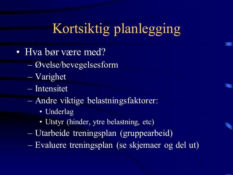 Vorobjevs og Feiges undersøkelser Prestasjonsnivå Gruppe 1: Spesialisering (maksimering av treningen) Gruppe 2: Allsidig (optimalisering av treningen)