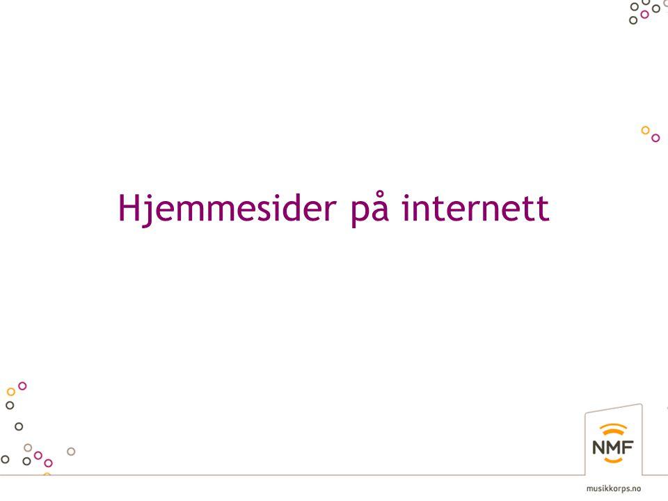 Hjemmesider på internett