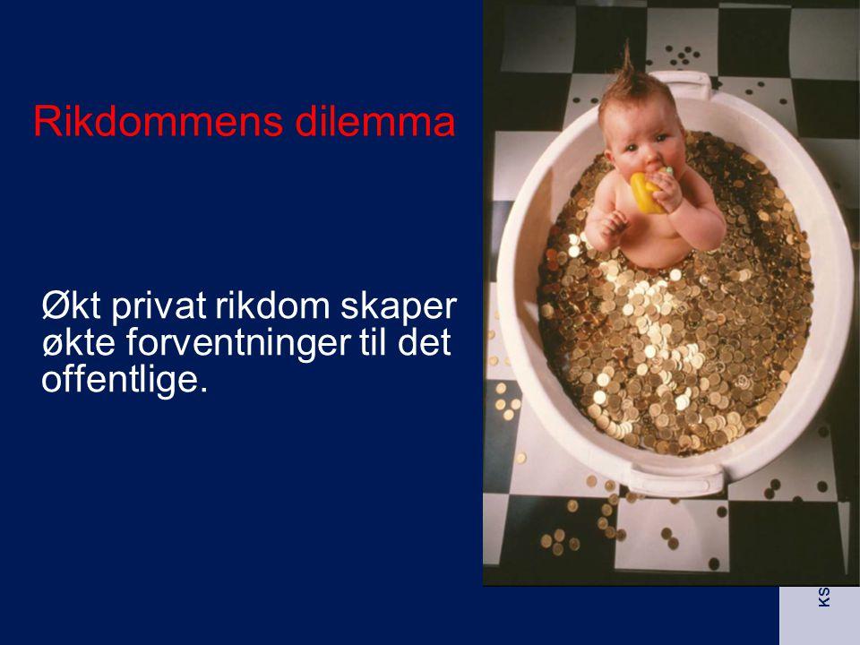 KS Nord - Norge Rikdommens dilemma Økt privat rikdom skaper økte forventninger til det offentlige.