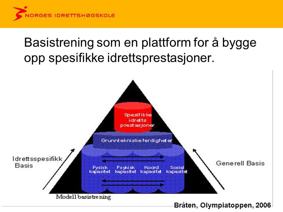 Basistrening som en plattform for å bygge opp spesifikke idrettsprestasjoner. Bråten, Olympiatoppen, 2006