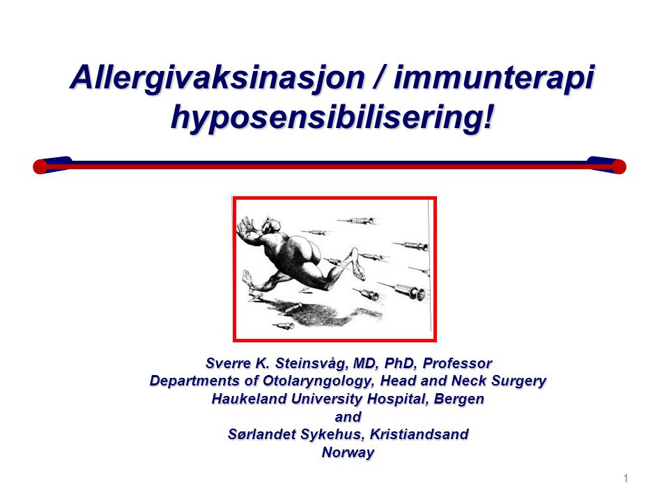 2 Allergisk rhinitt er den vanligste kroniske sykdommen hos barn Jáuregui I.